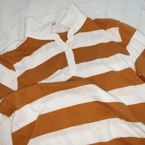 long sleeve cropped polo
